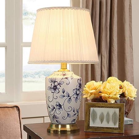 CKH Europeo Hermosa lámpara de Mesa Dormitorio lámpara de mesita ...