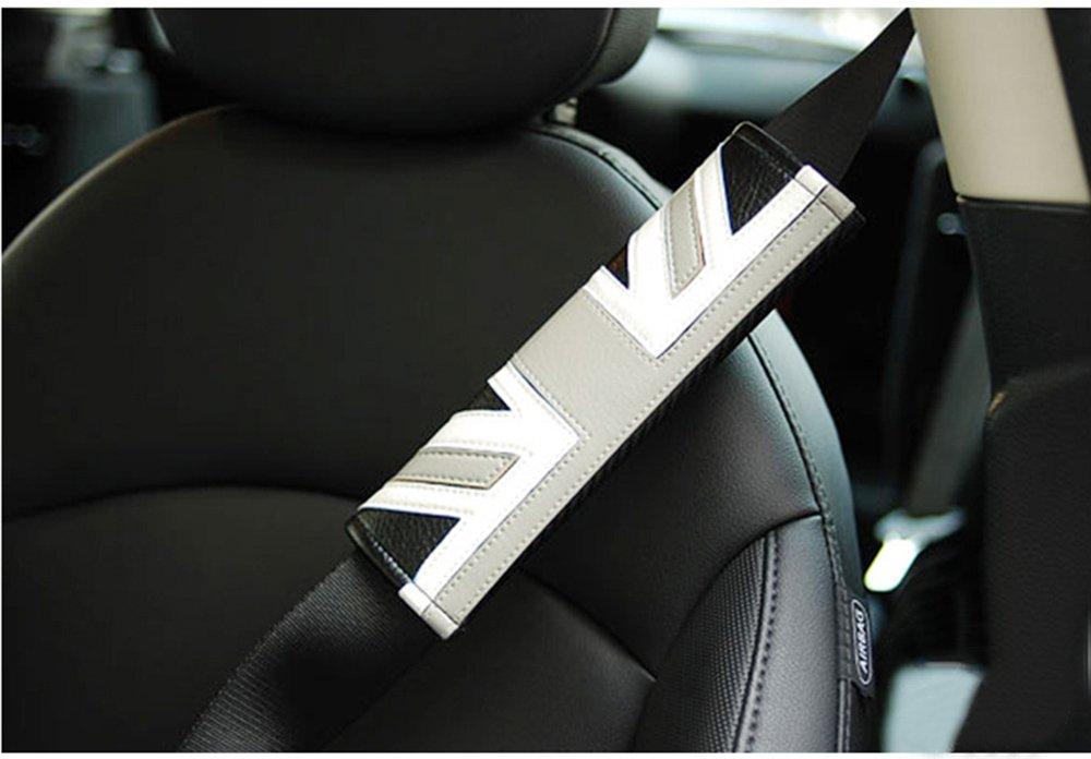 Funda para cinturó n de seguridad de poliuretano para Mini Cooper JCW One S Countryman Paceman Clubman F55 F56 F60 R60 R61 R56 tbparts