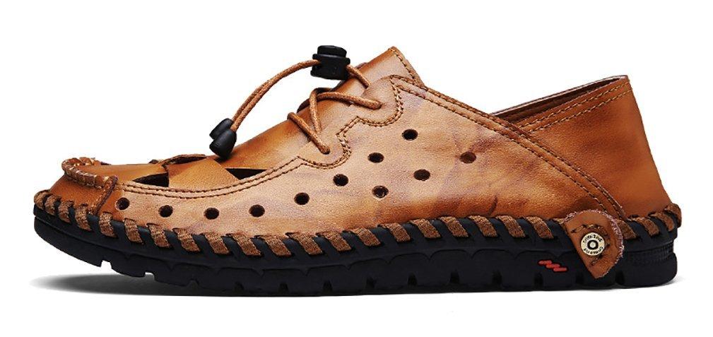 Scennek - Sandalias de Vestir de Sintético para Hombre 41 EU Marrón
