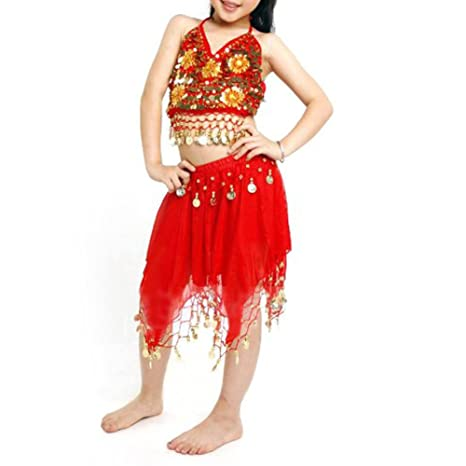 Amazon com: BellyLady Kid Egyptian Belly Dance Costume