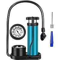 Zingso Fiets pomp voetpomp compatibel met Schrader Presta ventielen, mini draagbare luchtpomp fiets aluminiumlegering…