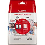 Canon PG-545XL+CL-546XL Valuepack de tinta original BK XL+Tricolor XL (GP-501 50 sheets) para Impresora de Inyeccion de…