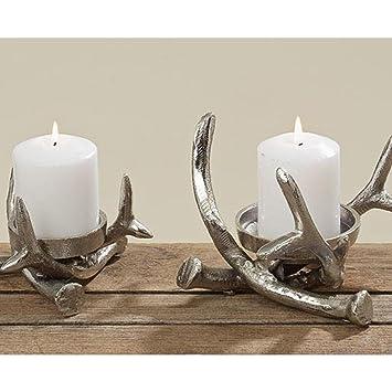 Kerzenständer Metall kerzenständer kerzenleuchter metall geweih advent tischdeko leuchter