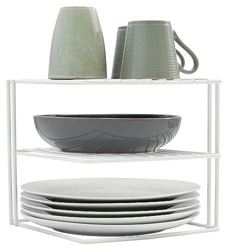 Polytherm Undershelf Baskets: Black Corner Plate Rack By Delfinware: Amazon.co.uk