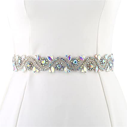 5bbda3103b FANGZHIDI Wedding Applique Belt Dress, 1 Yard Bridal Rhinestone Sash  Crystal Bead Pearls Trim DIY- Best Gift Women, Suit Decorate Evening Gown  Sewing ...