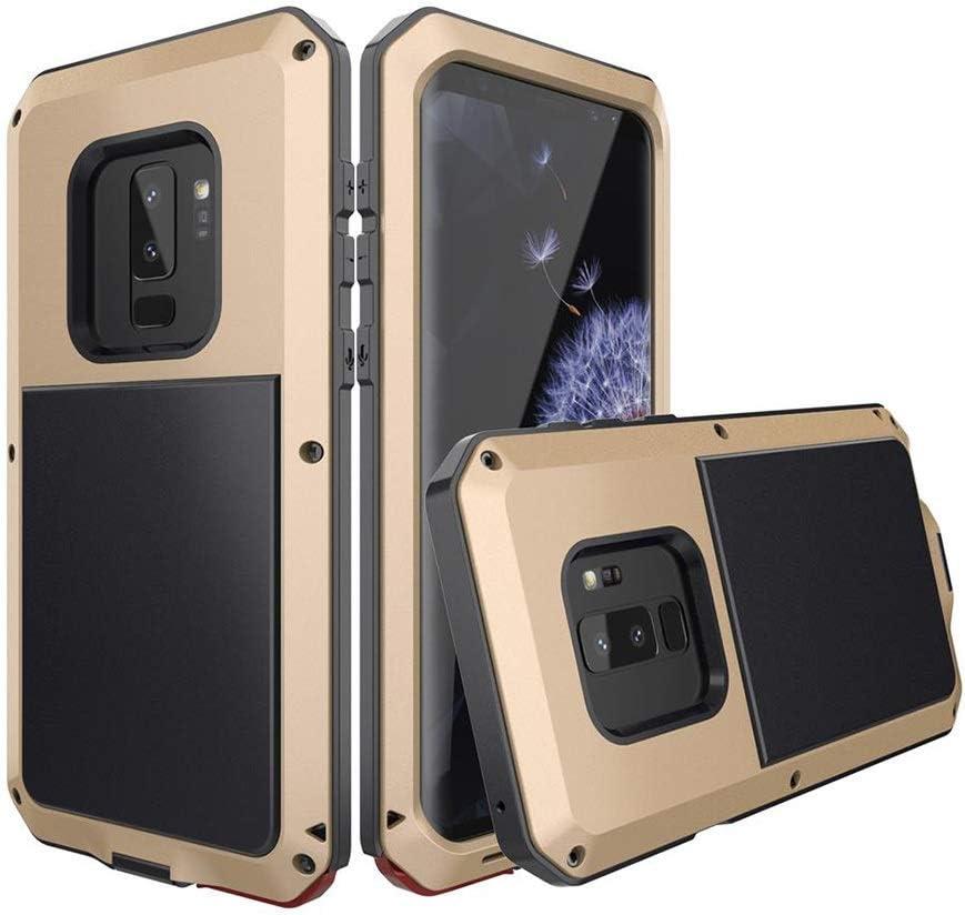 ACHAOHUIXI サムスンS9、S9プラス、S8、S8プラス、S7、S7エッジ、S6、S6エッジ、S5の高級デザイン3アンチ携帯電話ケース防水アンチドロップ金属保護カバー電話ケース (Color : ゴールド, Edition : S5)