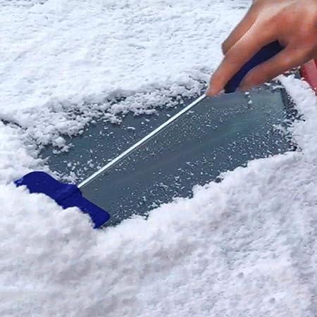 smilerr Rimozione della Neve per Auto Raschietto per Ghiaccio 2 in 1 Rimozione della Neve Strumenti per Cacciavite per Camion per Auto SUV Rimozione di Ghiaccio E Neve da Windows in Style