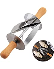 Cortador de rodillos de acero inoxidable para hacer moldes de pan de croissant con mango de