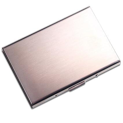 stainless steel credit card holder best slim travel metal wallet for men and women - Best Credit Card Holder