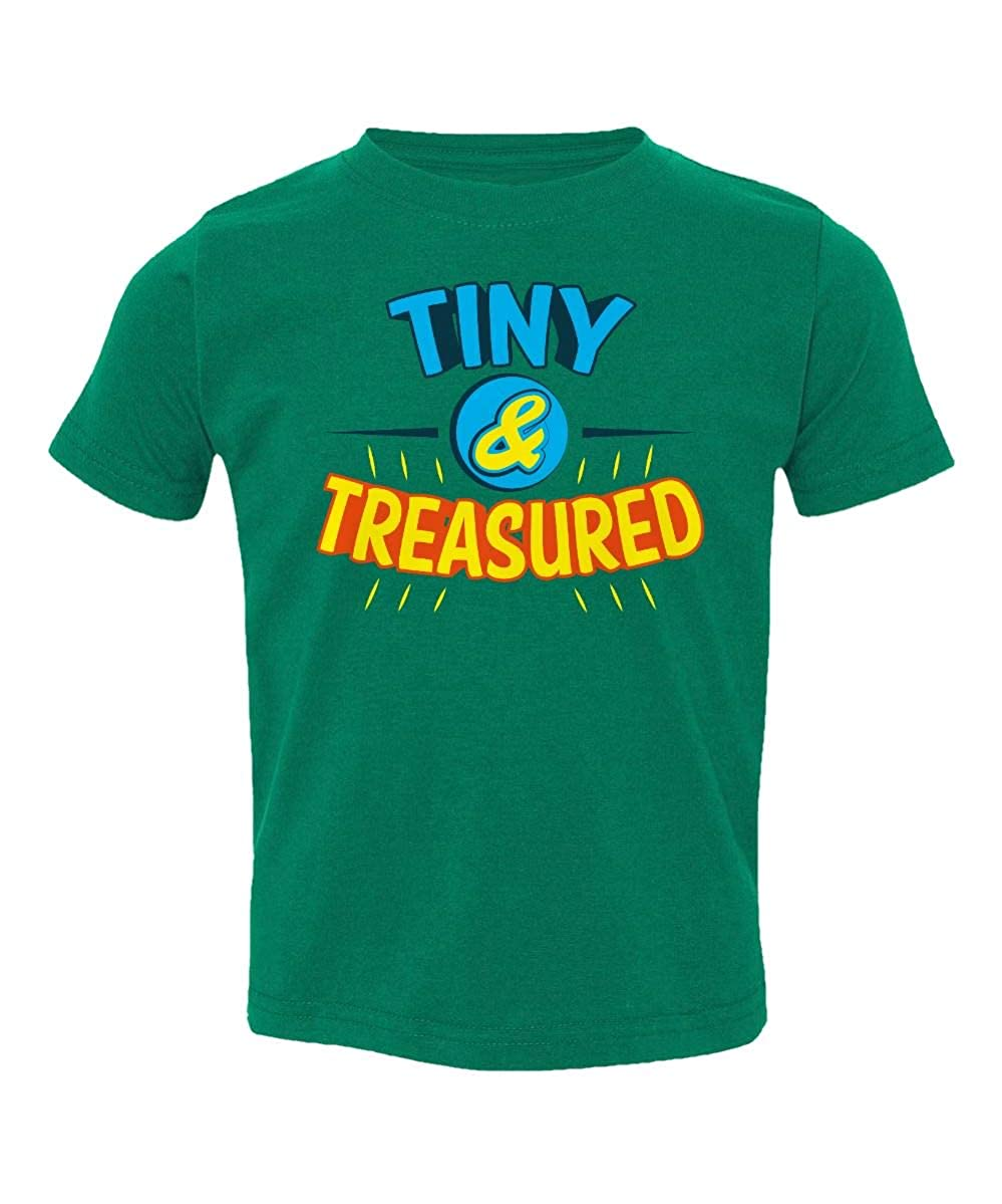 Societee Tiny and Treasured Delicate Cute Little Kids Girls Boys Toddler T-Shirt