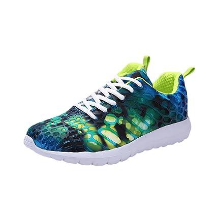 LuckyGirls Hombre Bambas Deportivas Bloque de Color Zapatillas Calzado Zapatos Casual (EU34/CN35,