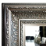 West Frames Elegance Ornate Embossed Wood Framed Wall Mirror (23'' x 27'', Antique Silver)