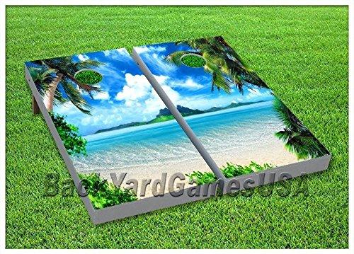 CornholeボードセットBeanbag Toss Game Relaxing In Paradise Wバッグセット90   B06ZYR8N7H