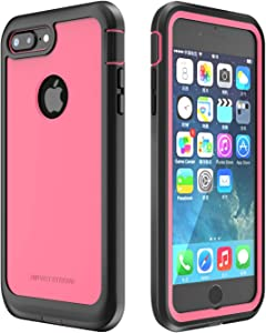 ImpactStrong iPhone 7 Plus/iPhone 8 Plus Case, Ultra Protective Case with Built-in Clear Screen Protector Full Body Cover for iPhone 7 Plus/iPhone 8 Plus (Pink)
