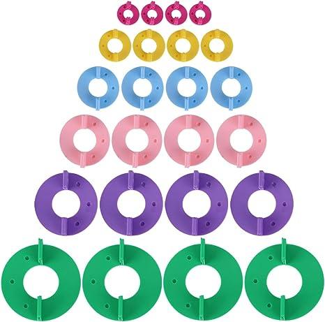 6 Größe Pom Pom Maker Pompom Macher Set  für Mützen Schals Strickmütze Basteln