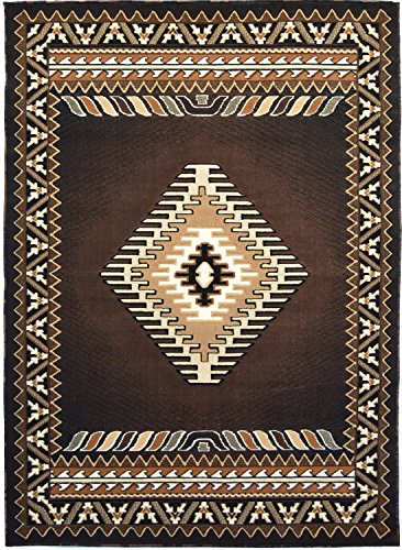 Rugs 4 Less Collection Southwest Native American Indian Area Rug Design R4L 143 Chocolate / Brown (8'X10') by Rugs 4 Less