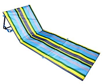 Amazon.com : Extra Thick Portable Beach Mat Lounge Chair And Tote By Bo  Toys (Blue Stripes) : Garden U0026 Outdoor
