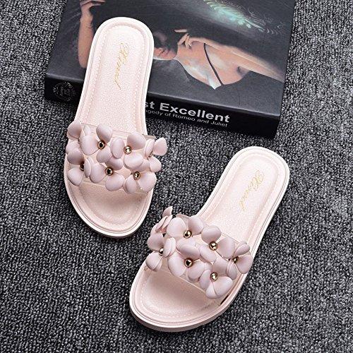 LIXIONG Tragbar Mode Damen Pantoffeln Strand Hausschuhe Anti-Rutsch Flache Pantoffeln Innen-und Outdoor-Sandalen (18-40 Jahre Alt) Modeschuhe ( Farbe : 1003 , größe : EU36/UK4/CN36 )