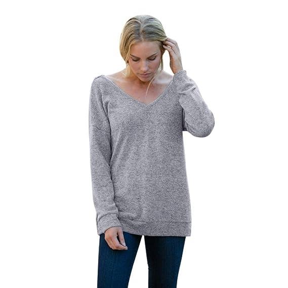 lunaanco Jersey Calado Mujer, Jersey Cuello Alto Mujer Blusas,Jersey de Mujer en Oferta