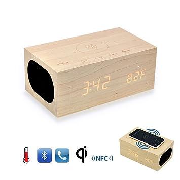 Amazon.com: Sourcingbay – x5 qi cargador inalámbrico madera ...