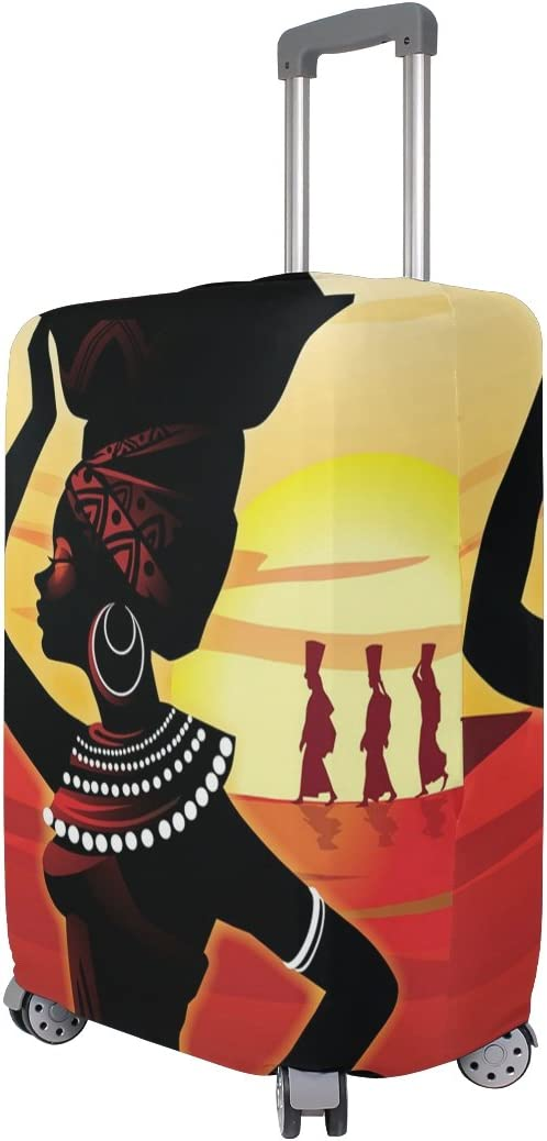 LEISISI African Woman Luggage Cover Elastic Protector Fits XL 29-32 in Suitcase