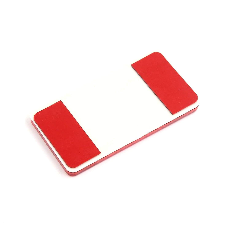 COMEYOU 4 St/ück Rechteck Selbstklebende reflektierende Warnschild rote Reflektoren