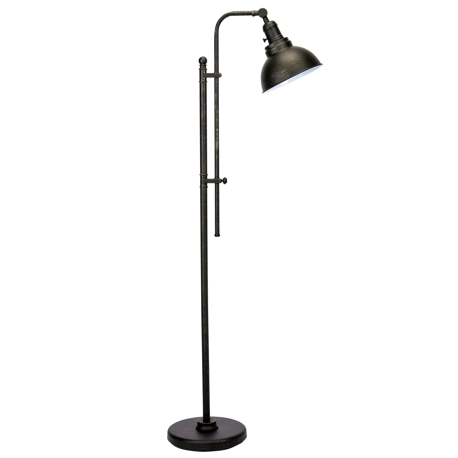 CO-Z Industrial Floor Lamp Adjustable, 65 Inches Rustic Floor Task Lamp in Aged Bronze Finish, Standing Lamp with Metal Shade for Living Room Reading Bedroom Office.