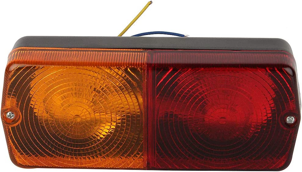 Tractor Rear Tail lamp Stop Flasher Light Flat Base Set of 2 Rh+LH