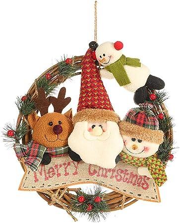 AMhomely Christmas Decorations Sale Rattan Circle Pendant Rattan