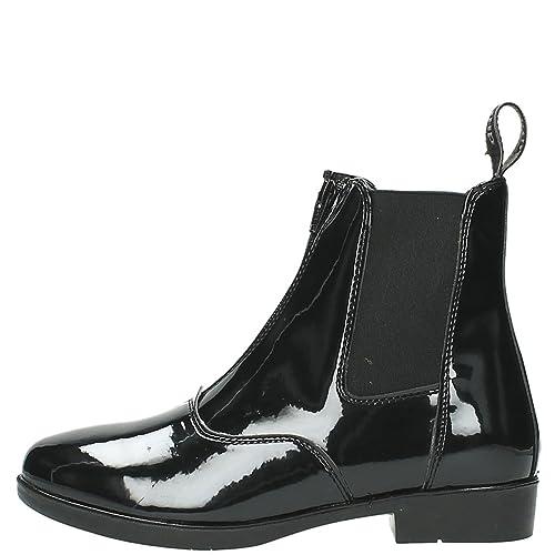 Botines Jodhpur Paris charol. Negro Talla 38, color Negro, talla 37: Amazon.es: Zapatos y complementos