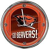 NCAA Oregon State University Go Team! Chrome Clock, One Size, Multicolor