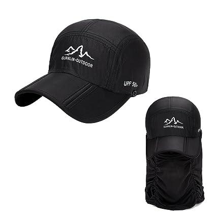 3bdf0977763 Amazon.com   SYIDINZN Fishing Hat Sun Cap Mosquito Head Net Hat ...