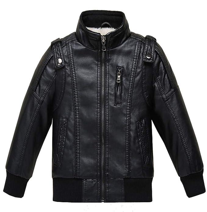 Amazon.com: Chaqueta de piel para niñas, chaqueta de forro ...