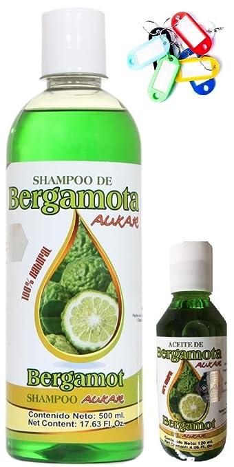 Amazon.com: Bergamot Shampoo AUKAR 500ml plus Bergamot Oil ...