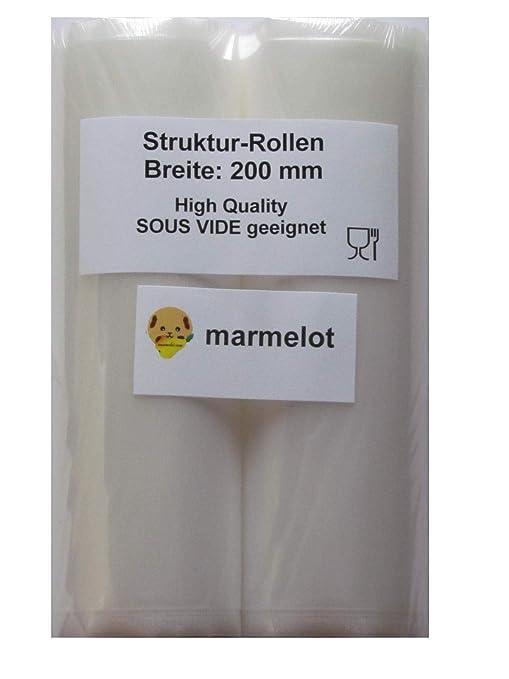 Rollos envasado al vacío, 2 rollos 20x600cm, gofrada, Para envasadoras de vacio domésticas de todo tipo