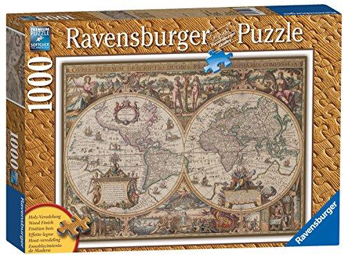 Ravensburger Antique World Map 1000 Piece Wooden Structure Puzzle