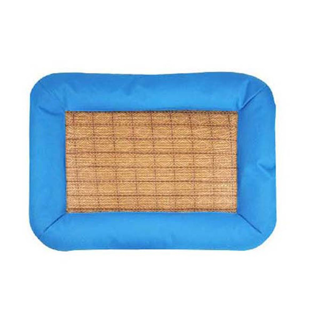 bluee M bluee M Dog Mat Mat, Pet Summer Puppy Large Dog Cool Pad Dog Bed Kennel Summer Cat Litter Cooling Mat (color   bluee, Size   M)