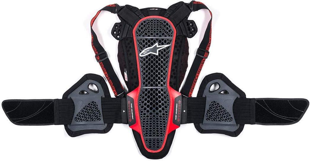 Alpinestars Mens Nucleon KR-3 Motorcycle Back Protector Smoke Black//Red X-Large