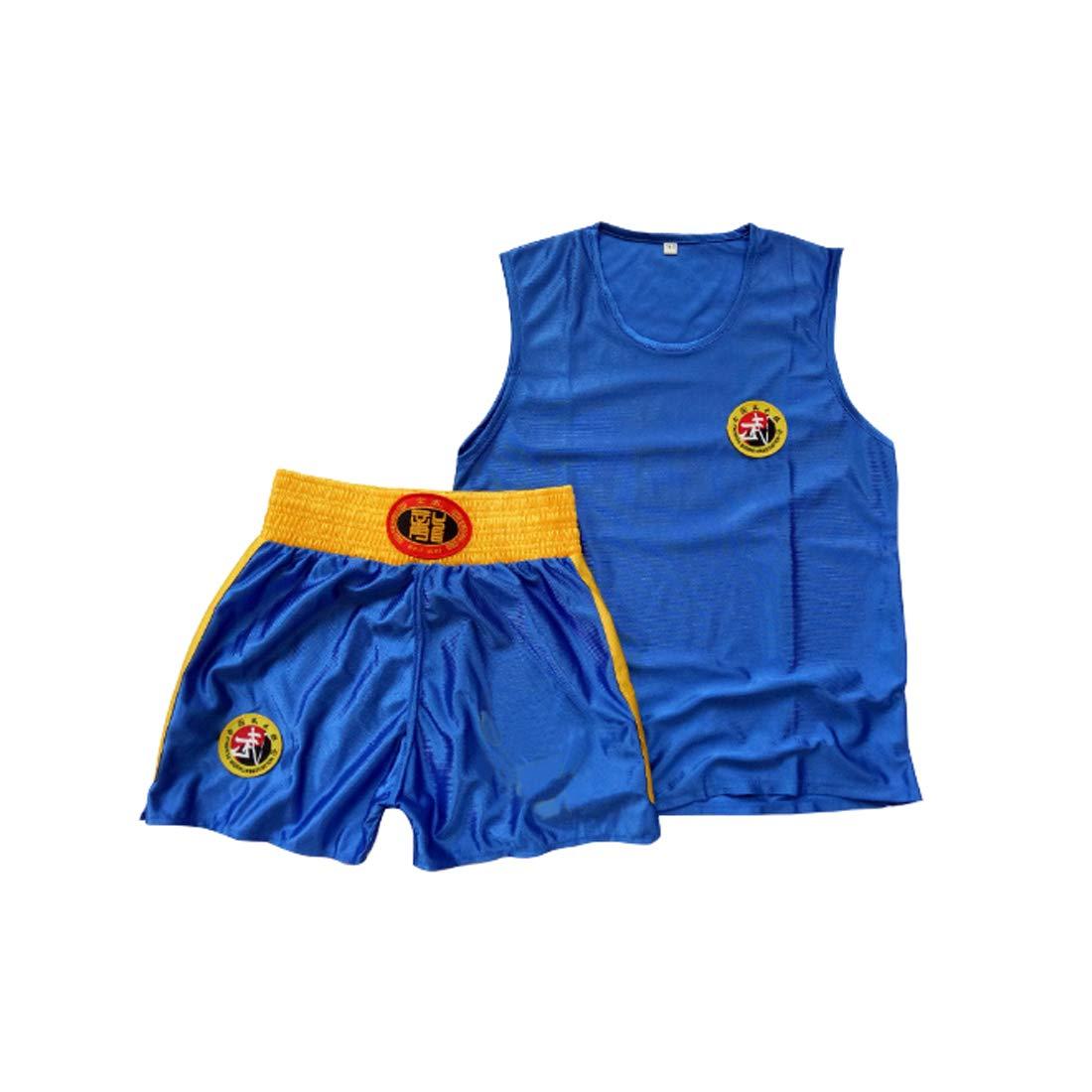 Inlefen Childrens Sanda Clothing Boys and Girls Adult Boxing Set Boxing Shorts Muay Thai Clothing Martial Arts Training Wear Sportswear