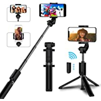 Selfie Stick Bluetooth, AYY Extendable Selfie Stick Tripod with Wireless Remote Selfie Stick for iPhone 11 Pro Max/11…