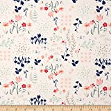 Art Gallery Fabrics Paperie Jersey Knit Library Fabric by the Yard, Gardens