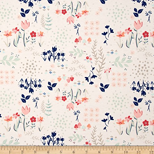 Art Gallery Paperie Jersey Knit Library Gardens Fabric By The Yard