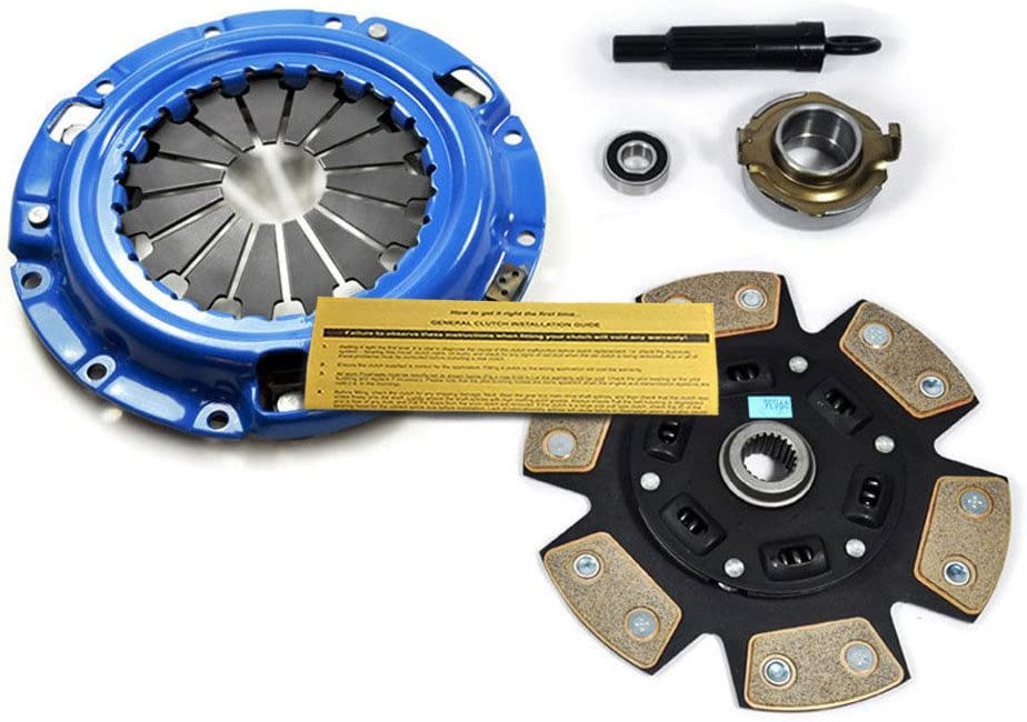 Clutch Disc Stage 1 Clutch Kit Works With Mazda B2200 B2000 Mx-6 626 Capri XR2 BASE LE-5 SE-5 DX LX 2.0L l4 2.2L l4 GAS SOHC Naturally Aspirated 1.6L l4 GAS DOHC Turbo