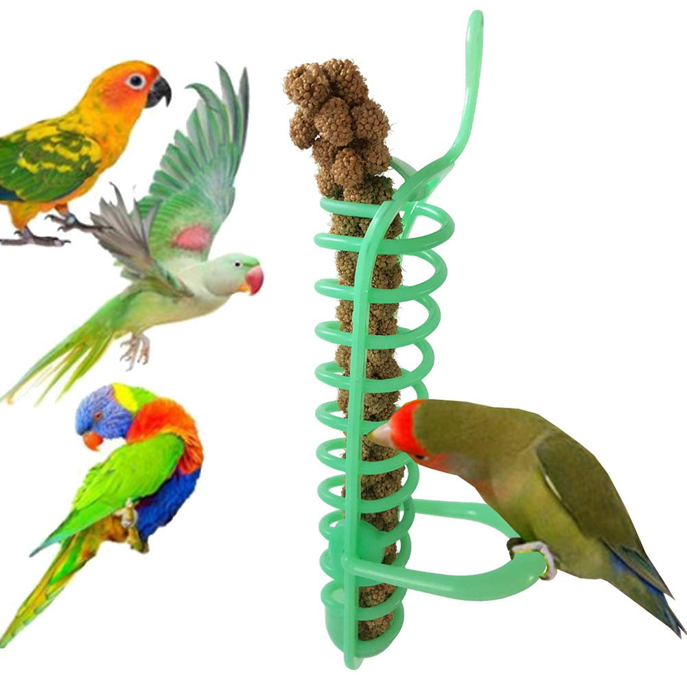 Yeshai3369  Bird Spirale Feeder Parrot Nourriture Fruits Millet Support