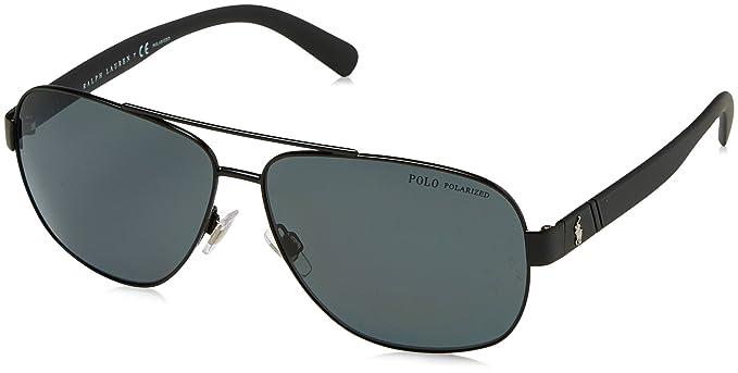 43133a7d9ce71 Polo Ralph Lauren Men s 0ph3110 Polarized Aviator Sunglasses demiglos black  60.0 mm