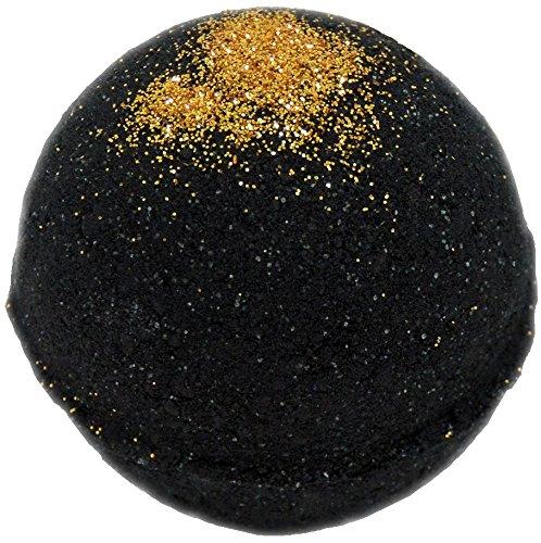 Bath Bomb 5.5 oz Black Velvet and Gold Shimmer