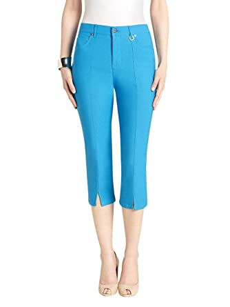 URREBEL Women's Simon Chang Slit Front Capri Pants at Amazon ...