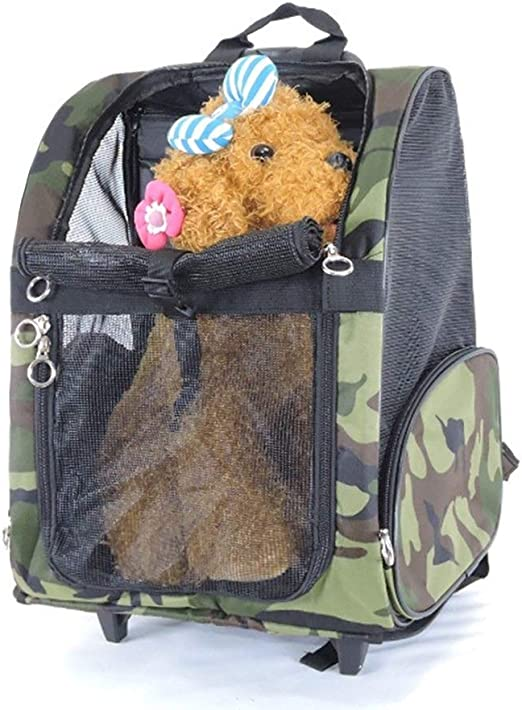 AN-JING Estuches for carritos de Mascotas for Maletas de Dos Hombros for Viajar Mochilas con Caja for Mascotas Fácil de Llevar Artículos de Mascota (Color : Leopard, Size : S): Amazon.es: Productos