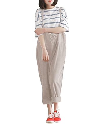 dc9e4bbb59800 Amazon.com  StyleDome Women Wide Leg Pants Hippie Jumpsuits Strap Baggy Casual  Romper Trousers Overalls  Clothing