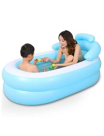 fhkvasca da bagno pieghevole gonfiabile per adulti bagnetto e sedili genitore bambino pieghevole